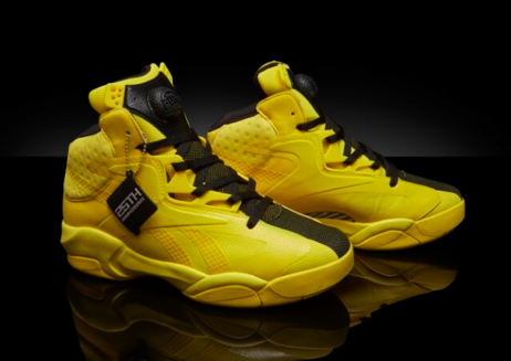 dbd8e981cc62 Reebok Mens Shaq Attaq Modern in Yellow Spark – Basketball Shoes